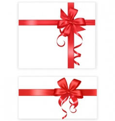 two red bows and ribbons vector image