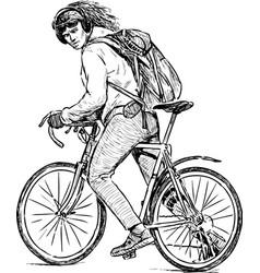 Urban cyclist vector