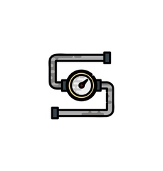 Water Pipes flat icon vector image