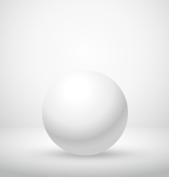 White clean sphere in empty room vector