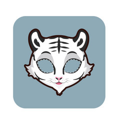 white tiger mask for various festivities parties vector image