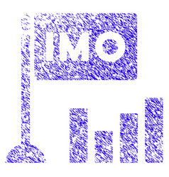 Imo bar chart icon grunge watermark vector