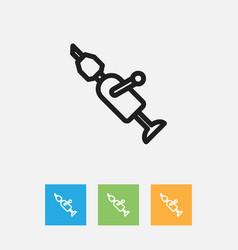 of equipment symbol on drill vector image