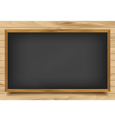 School nero Board on wooden background vector image vector image