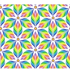 Seamless pattern with abstract bright flowers vector image vector image