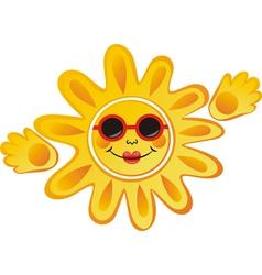 Sun cartoon vector image