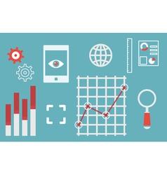 Web analytics information and development website vector image vector image