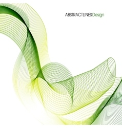 Abstract Green Lines Design vector image
