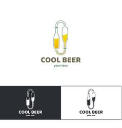beer logo three vector image