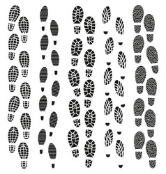 black footprints silhouette set vector image