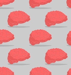 Brain seamless pattern Central organ of nervous vector image vector image