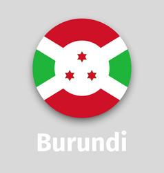 burundi flag round icon vector image vector image