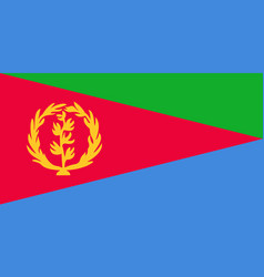 flag in colors of eritrea image vector image vector image