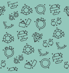 jeweler icons pattern vector image