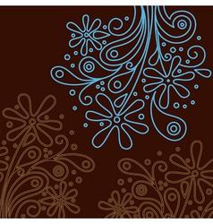 modern floral background vector image
