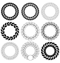 Set laurel wreath on the white background vector image vector image