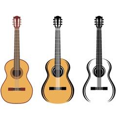 Set Of Guitars vector image vector image