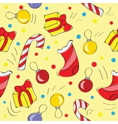 Christmas decorations - seamless pattern vector image vector image