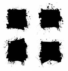 square black ink splat vector image