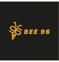 Bee wings in the form of numbers 96 vector image vector image