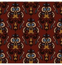 Luxury Damask seamless tiled motif pattern vector image vector image