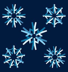 origami people snowflakes vector image vector image