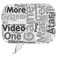 what is the best video game system text background vector image vector image