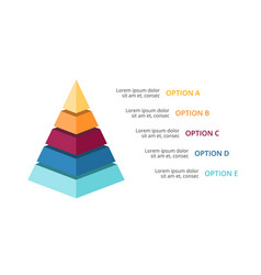 3d pyramid infographic growth diagram vector