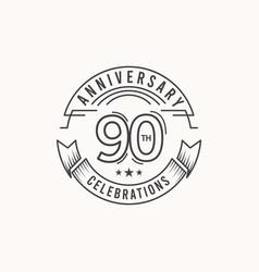 90 years anniversary celebration logo template vector