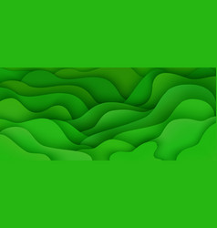 abstract background with expressive green wave vector image