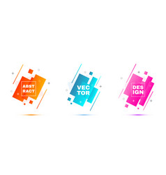 abstract banners layout template vector image