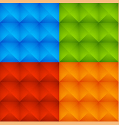 abstract colorful studded pattern background set vector image