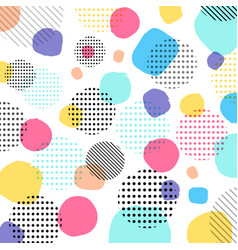 abstract modern pastels color black dots pattern vector image