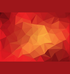 abstract red tone low polygon background vector image