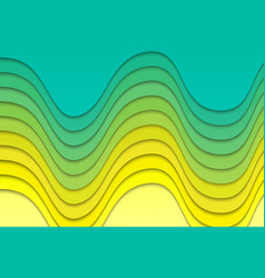 Abstract wavy paper lines background vector