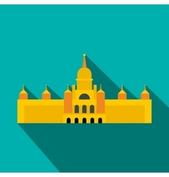 Almudena Cathedral Madrid icon flat style vector image