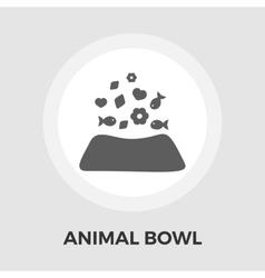 animal bowl flat icon vector image