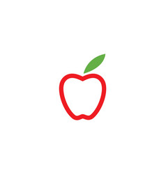 apple template vector image