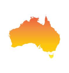 australia map colorful orange vector image