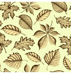 Autumn leaves seamless texture vector image