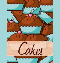 bakery and dessert products vector image