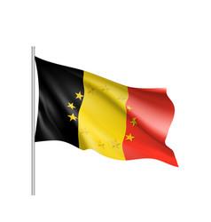 belgium national flag with a circle of eu vector image