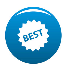 best sign icon blue vector image