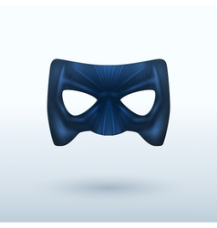 Black Leather Mask for Superhero vector image
