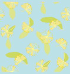 blooming linden vintage flat seamless pattern vector image