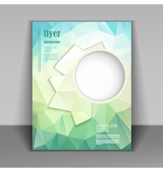 booklet with fresh polygonal pattern vector image