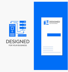 business logo for combination data database vector image