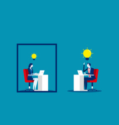 business team and ideas thinking concept business vector image