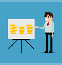businessman conducting a report vector image