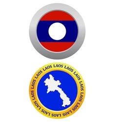 button as a symbol LAOS vector image